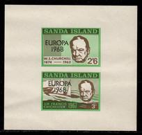 Sanda Island 1968 P# Souvenir Sheet 37 ** MNH - Overprinted - Europa / Sir Winston Churchill - Local Issues