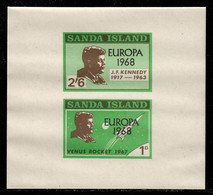 Sanda Island 1968 P# Souvenir Sheet 39 ** MNH - Overprinted - Europa / John F. Kennedy / Space - Local Issues