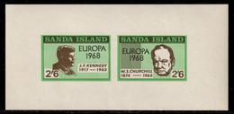 Sanda Island 1968 P# Souvenir Sheet 40 ** MNH - Overprinted - Europa / Sir Winston Churchill And John F. Kennedy - Local Issues