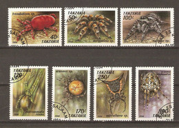 Tanzanie 1994 - Araignées - Arachnidés - Série Complète° - Sc 1585/91 - Kilowaar (max. 999 Zegels)