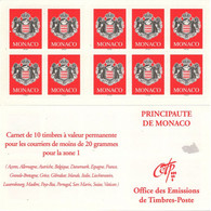 MONACO Carnet 13 ** MNH Armoiries De La Principauté 10 Timbres Validité Permanente 2000 - Markenheftchen