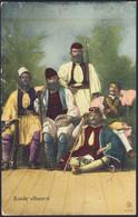 1919-Albania Cartolina Bande Albanesi Affr.10c.Leoni Posta Militare 111 Del 9.3 - Albania
