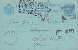 INDES NEERLANDAISES 1904 ENTIER POSTAL/GANZSACHE/POSTAL STATIONARY CARTE - Nederlands-Indië