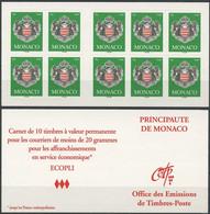 MONACO Carnet 14 ** MNH Armoiries De La Principauté 10 Timbres Validité Permanente 2005 - Markenheftchen