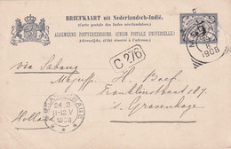 INDES NEERLANDAISES 1908 ENTIER POSTAL/GANZSACHE/POSTAL STATIONARY CARTE DE MEDAN - Netherlands Indies