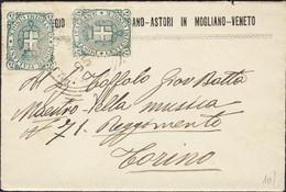1895-busta Con Testo Affrancata Due 5c. Stemma - Marcofilía