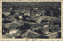 1940-Albania Cartolina Di Elbasan Panorama Affrancata 5q.verde - Albania