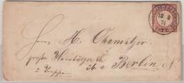 DR - Neustadt-Eberswalde 1874, K1 A. Brief M. 1 Gr. Gr. Brustschild N. Berlin - Brieven En Documenten
