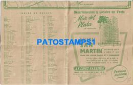 159450 ARGENTINA MAR DEL PLATA MAP MAPA CIRCUITOS DE TURISMO & PUBLICITY GALERIA SAN MARTIN 23 X 30 CM NO POSTCARD - Non Classificati