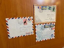 Lot De 3 Lettres 1969 Nouvelle Caledonie Pour La France - Cartas
