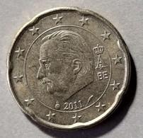 2011 -  BELGIO - MONETA IN EURO - DEL VALORE DI 20  CENTESIMI   -  USATA - - Belgien