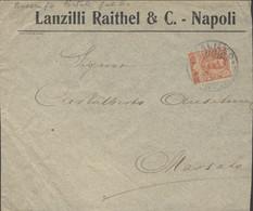 1905 GALILEO/PIROSCAFO POSTALE ITALIANO Su Busta Affr. Floreale C.20 - Storia Postale