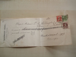 Ancien Reçu 1907     LIBRAIRES EDITEURS CALLEWAERT FRERES  BRUXELLES - Printing & Stationeries