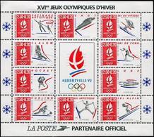 FRANCE 1992 - BLOC Y&T N° 14 Neuf ** XVIe JEUX OLYMPIQUES D'HIVER ALBERTVILLE - Zonder Classificatie