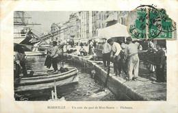 MARSEILLE UN COIN DU QUAI DE RIVE NEUVE PECHEURS - Old Port, Saint Victor, Le Panier
