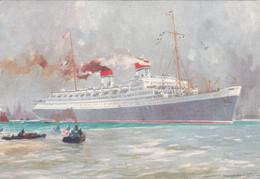Italia - Flotte Riunite Genova - Rex 51.062 Tonn. - Scritta E Datata 1934 - Zonder Classificatie