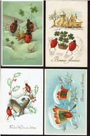 4 Cartes Bonne Année - Coccinelle - Circulées - Ladybirds - Voir Scans - Insects