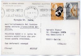 DEAR DOCTOR TYPE PUBL. PELARGON ROSSO-NESTLE' / SWAZILAND-MARABOUTS / WORLD UNITED AGAINST MALARIA CANCEL - Swaziland