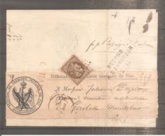 AVIS TRIBUNAL DE PAU FRANCE 1871 N°47 OBLITERE POUR ESPAGNE RETOUR ENVOYEUR 2795 - 1849-1876: Classic Period