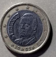 2003 - SPAGNA  - MONETA IN EURO - DEL VALORE DI  1,00  EURO   -  USATA - - Spanien