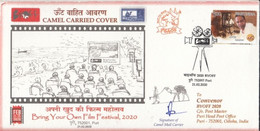 INDIA 2020 CAMEL CARRIED COVER...BRING YOUR OWN FILM FESTIVAL PURI , MOVIE, FAUNA- LIMITED (**) INDE INDIEN - Covers & Documents