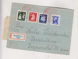 SLOVAKIA WW II 1943 BRATISLAVA Nice Registered  Cover - Cartas