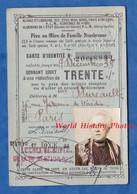 Carte Ancienne D' Identité / Chemin De Fer ALSACE LORRAINE EST PARIS ... - 1934 - Mmme DUREAULT -  30% Train - Unclassified