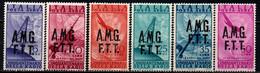 TRIESTE A - AMGFTT - 1947 - CINQUANTENARIO DELLA RADIO - SOVRASTAMPA SU DUE RIGHE - MNH - Airmail