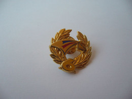 PIN'S PINS PIN PIN's ピンバッジ   TETE DE CHEVAL AVEC LAURIERS NUMERO 6 COULEUR JAUNE FONCE  ARTHUS BERTRAND - Arthus Bertrand