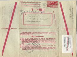 Persia - Persien - Iran - Middle East;  Interesting Damaged V-Mail To Bandar Shahpur APO 796 Forwarrded To India APO 494 - Irán