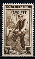 TRIESTE A - AMGFTT - 1950 - ITALIA AL LAVORO - VALORE DA 200 LIRE - MNH - Mint/hinged
