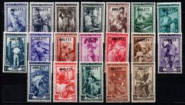 TRIESTE A - AMGFTT - 1950 - ITALIA AL LAVORO - SERIE COMPLETA - MNH - Mint/hinged