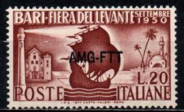TRIESTE A - AMGFTT - 1950 - 14^ FIERA DEL LEVANTE DI BARI - MNH - Mint/hinged