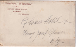 NEW ZEALAND - WAIRAKEI - Geyser House Hotel Envelope - Two Postcards - Westland - New Zealand