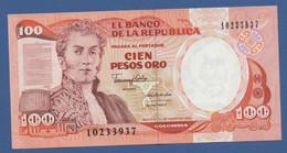 COLOMBIA - P.426e – 100 Pesos Oro 1/1/1990  - UNC - Colombia