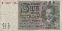 BILLETE DE ALEMANIA DE 10 MARK DEL AÑO 1929  (BANKNOTE) - 10 Mark