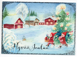 MODERN POSTCARD - UNICEF - FINLAND - CHRISTMAS - GNOMES / ELVES  - USED 2012 / POSTAL STATIONERY - Unclassified
