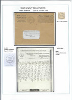 Persia - Persien - Iran - Middle East 1944;  V-Mail From APO 795-A (Khorramshar) To Arziona USA - Irán