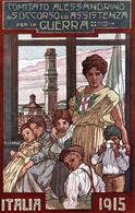 CPA - WW1 WWI Propaganda Propagande - PASINI - Alessandria - Comitato Di Assistenza E Soccorso - NV - PV944 - FORI! - Oorlog 1914-18