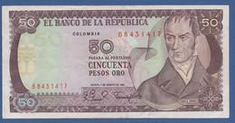 COLOMBIA - P.422a – 50 Pesos Oro 7/8/1981  - VF+ Smalltear - Colombia
