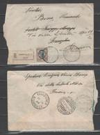 ITALIA 1927 - Floreale 2,50 L. Su Raccomandata Da Genova A Zanzibar (rinviata A Genova) - Marcofilía