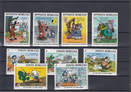 Rumänien Michel Cat.No. Mnh/** 4209/4217 + Sheet 220/221 Disnex - Unused Stamps