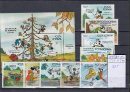 Rumänien Michel Cat.No. Mnh/** 4243/4251 + Sheet 225 Disney - Unused Stamps