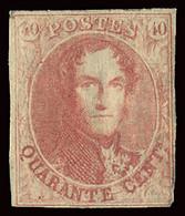 BELGIUM BELGIQUE BELGIO 1858-61 40 CENT. ORIGINAL GUM MH OFFER! - 1858-1862 Medaillen (9/12)