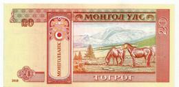 Mongolian Tögrög (20 ₮)  Year 2018. Brand New, Uncirculated - Mongolia