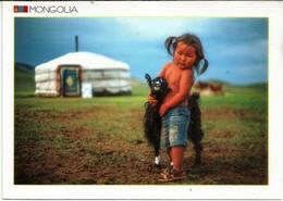 Mongolian Farmer Boy .  Uncirculated Postcard From Mongolia - Scenes & Landscapes