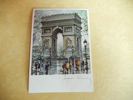 Dept 75 Paris Arc De Triophe Dessin ' Jacques Chardon '  ( Neuve ) Edit Pram 1981 ( Animée ) - Paintings