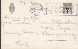 Denmark Postal Stationery Ganzsache (81-O) 7/8 Øre Slogan 'Køb Danske Varer' KØBENHAVN 1926 VILLA CAPRI KLAMPENBORG - Postal Stationery