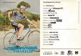 CARTE CYCLISME LUCIEN VAN IMPE TEAM METAURO 1983 - Cycling
