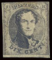 BELGIUM BELGIQUE BELGIO 1851-54 10 CENT. NO GUM OFFER! - 1851-1857 Medaillen (6/8)